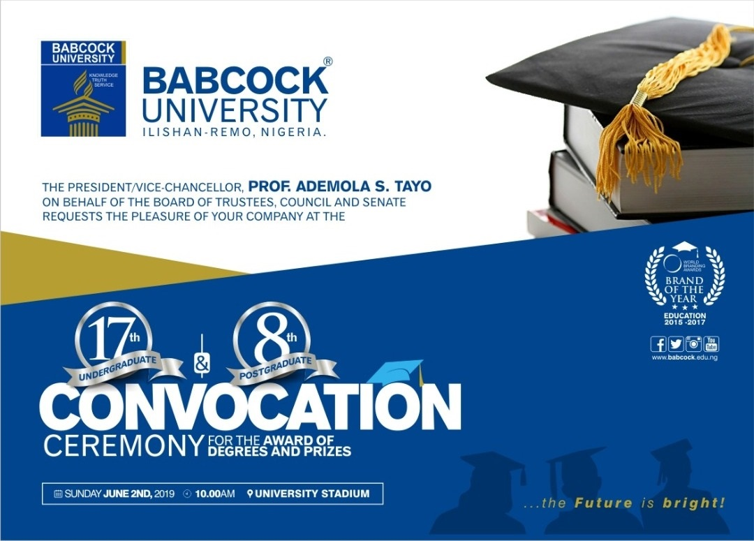 Babcock University Convocation 2019